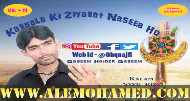 Qaseem Haider Qaseem Nohay 2016-17