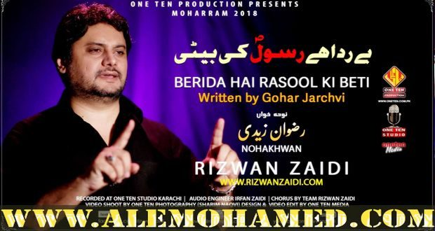 Rizwan Zaidi Nohay 2018-19