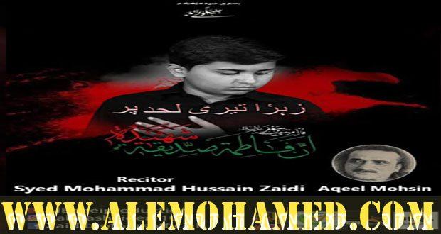 Hussain Zaidi Ayyam-e-Fatima Nohay 2019-20