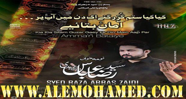 Raza Abbas Zaidi Ayyam-e-Fatima Nohay 2019-20