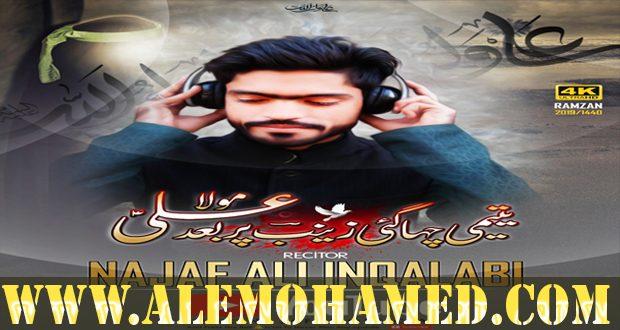 Najaf Ali Ayyam-e-Ali Nohay 2019-20