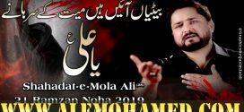 Raza Abbas Zaidi Ayyam-e-Ali Nohay 2019-20
